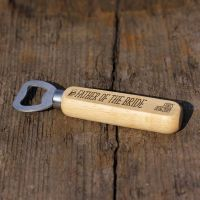 Father Of The Bride Personalised Wooden Bottle Opener