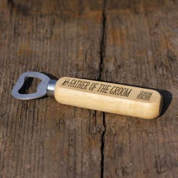 Father Of The Groom Personalised Wooden Bottle Opener