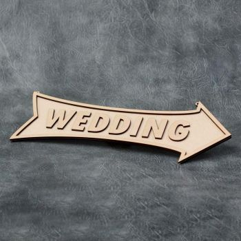 Personalised Hanging Arrow Sign - 8mm thick