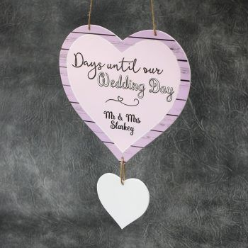 Days Until Our Wedding Day Personalised Printed Countdown Plaque