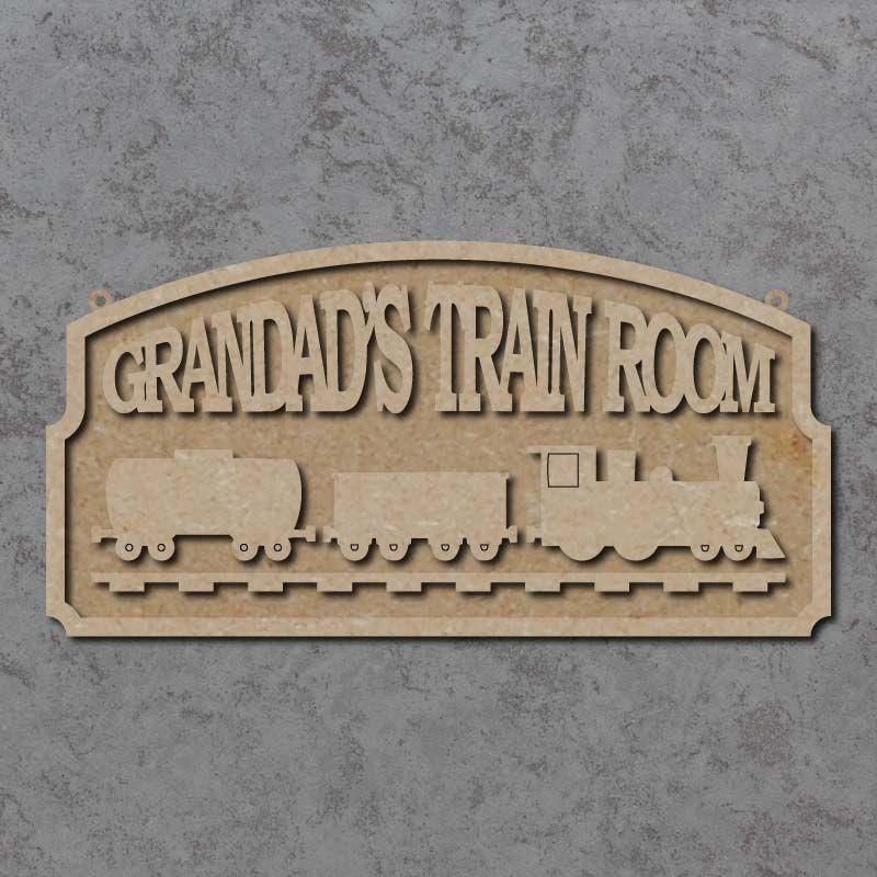Personalised Train Room Plaque