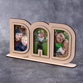 Freestanding DAD Frame (3x 6x4 Photos)