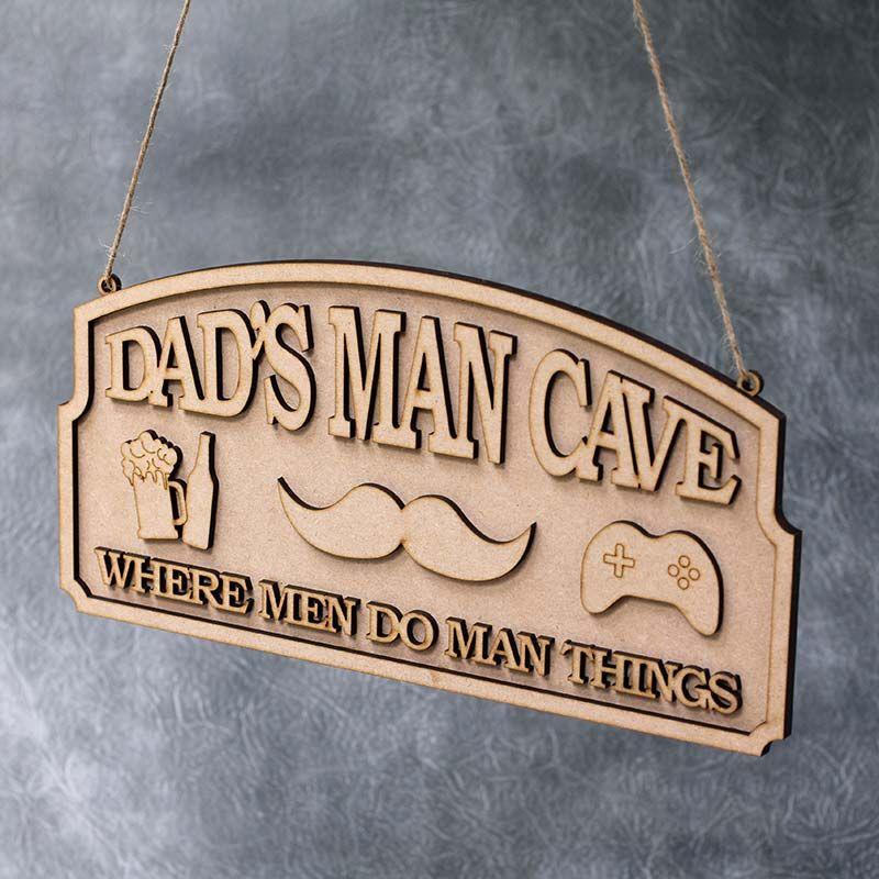 Where Men Do Man Things Plaque