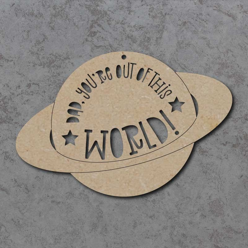Out Of This World Planet sign