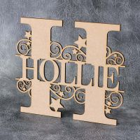 Monogram Name Letters - Swirls and Stars