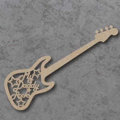 My Daddy Rocks  Guitar sign