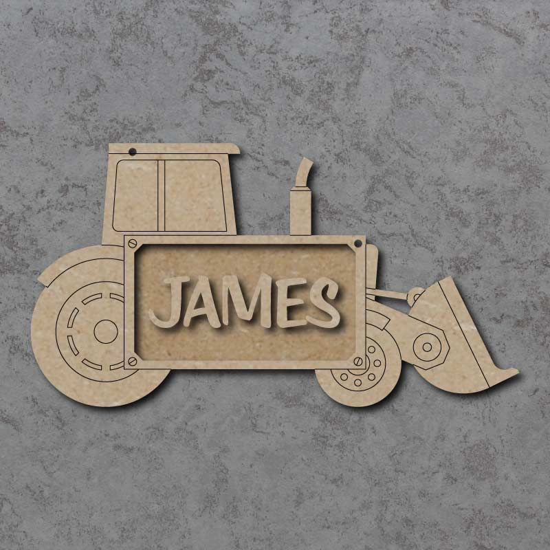 Tractor Digger Name Plaque
