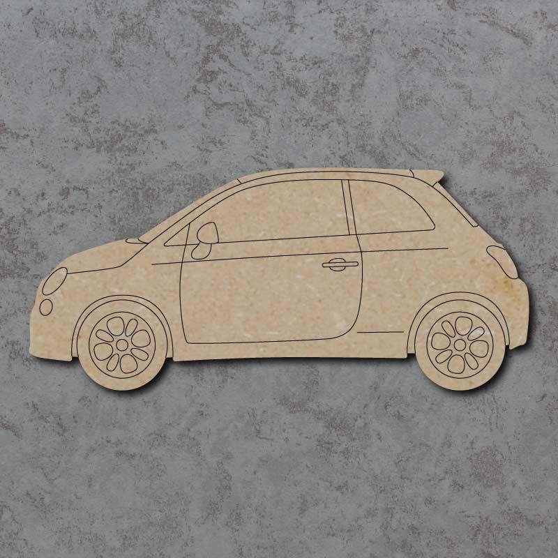 Fiat 500 Car Craft Shapes