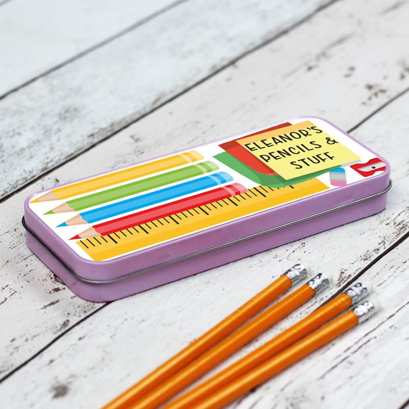 Pencils and Stuff Personalised Pencil Case - Pink