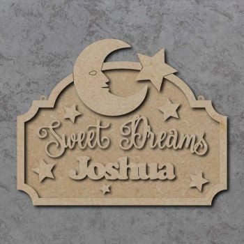 Sweet Dreams with Moon and Stars Plaque