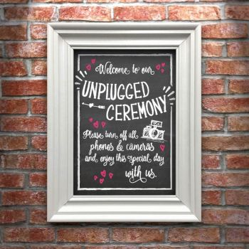 Unplugged Ceremony A4 Art Print (frame not included)