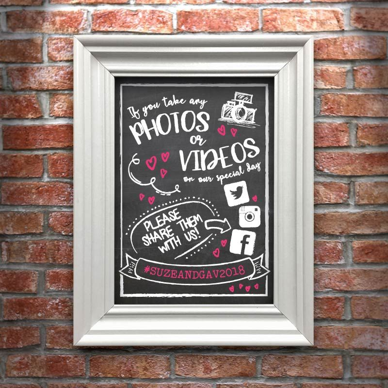 Share Your Photos and Videos A4 Art Print (frame not included)