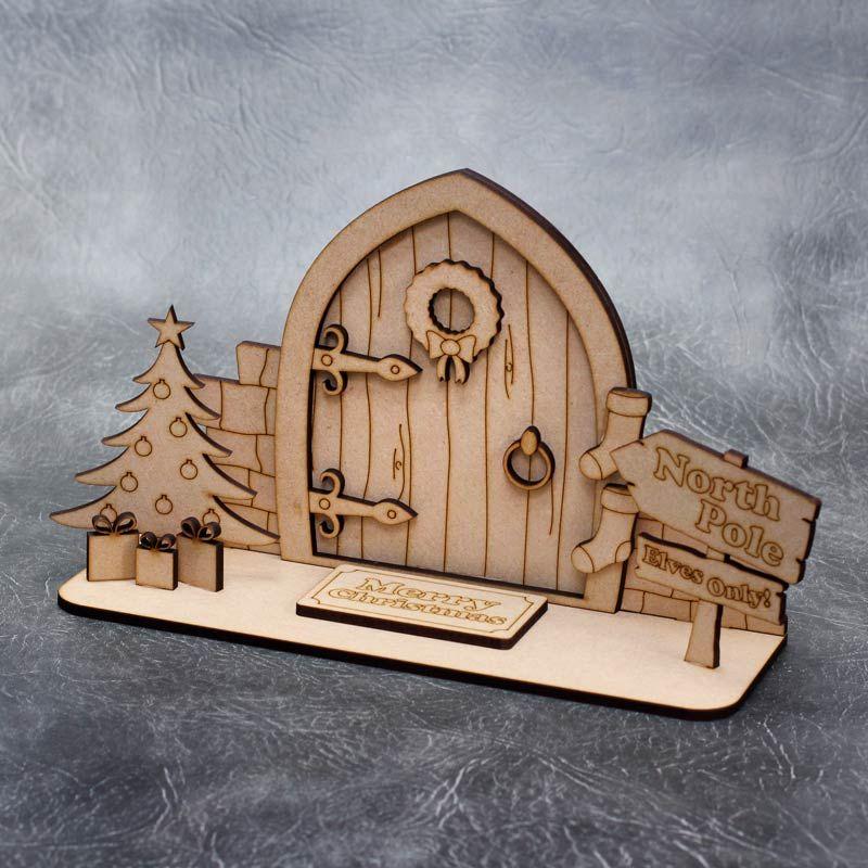 Christmas Elf Door Scene Craft Pack