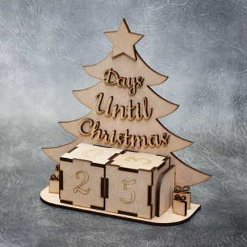 Days Until Christmas Countdown with Blocks