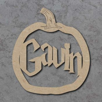 Pumpkin Name Plaque