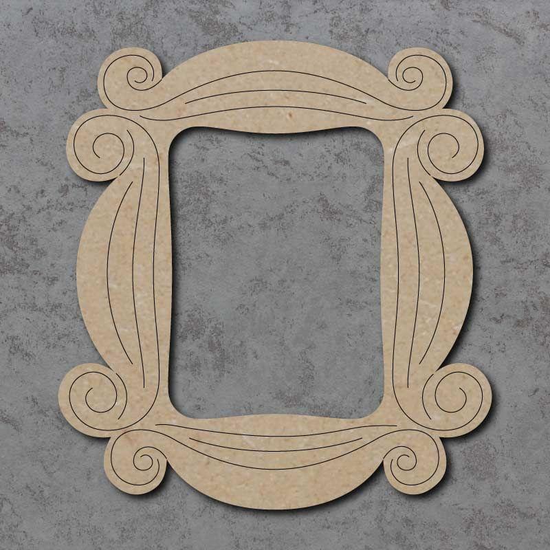 Swirly Frame Detailed Craft Shapes