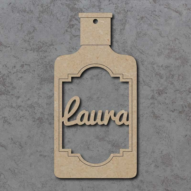 Gin Bottle Name Bauble
