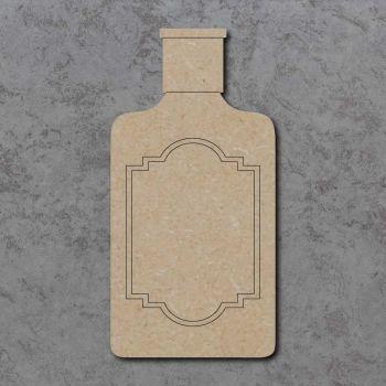 Gin Bottle Detailed Craft Shapes