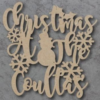 Christmas at the 'Your Name' with Snowflakes Craft Sign