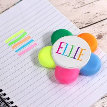 Personalised Highlighter Flower Pen