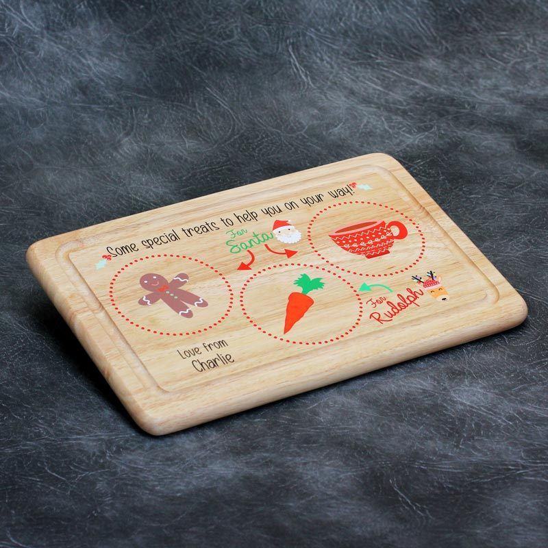 Printed Personalised Christmas Eve Chopping Board