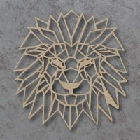 Geometric Lion Head Detailed Craft Shapes