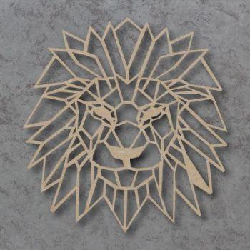 Geometric Lion Head Detailed Craft Shapes