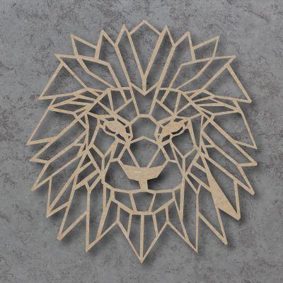 Geometric Lion Head Craft Shapes