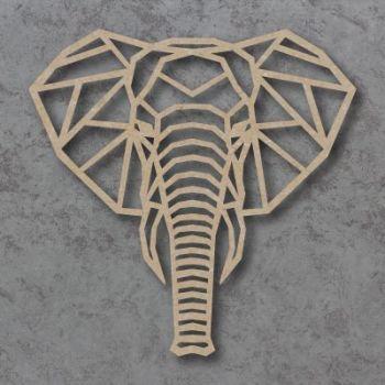Geometric Elephant Head Detailed Craft Shapes