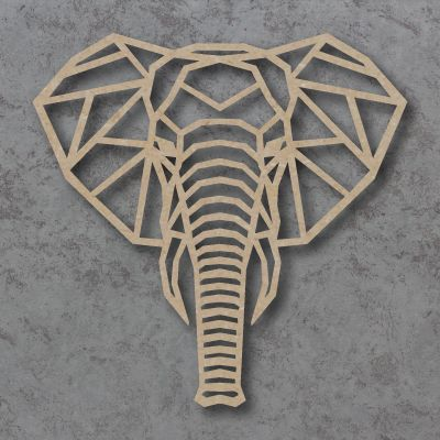 Geometric Elephant Head Craft Shapes
