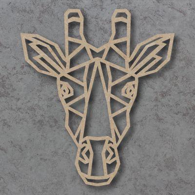 Geometric Giraffe Head Craft Shapes