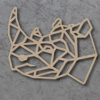 Geometric Rhino Head Detailed Craft Shapes