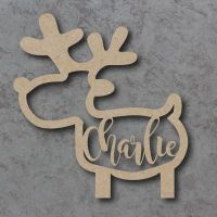 Reindeer Name Bauble (Full Body)