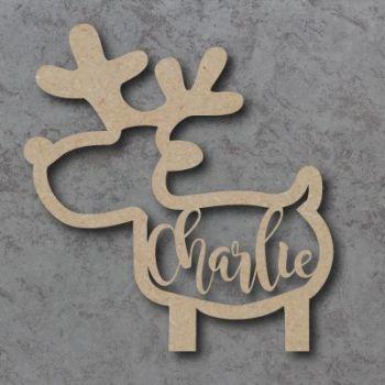 Reindeer Name Bauble (Full Body)