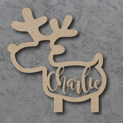 Full Body Reindeer Name Bauble