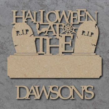 Halloween at the 'Your Name' Gravestone Sign with Word
