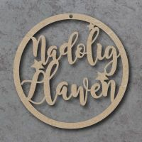 Nadolig Llawen (Happy Christmas) Welsh Circle Signs