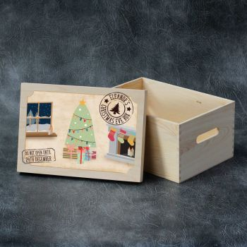 Printed Christmas Eve Box - Tree Scene