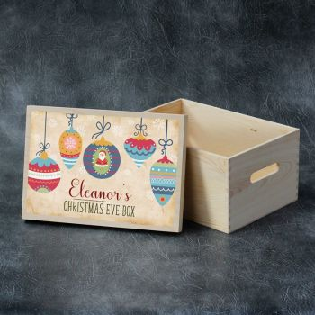 Printed Christmas Eve Box - Hanging Baubles