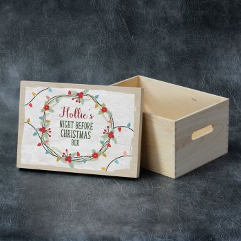 Printed Christmas Eve Box - Christmas Lights