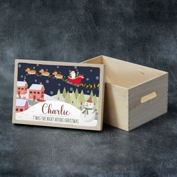 Printed Christmas Eve Box - Santa Sleigh