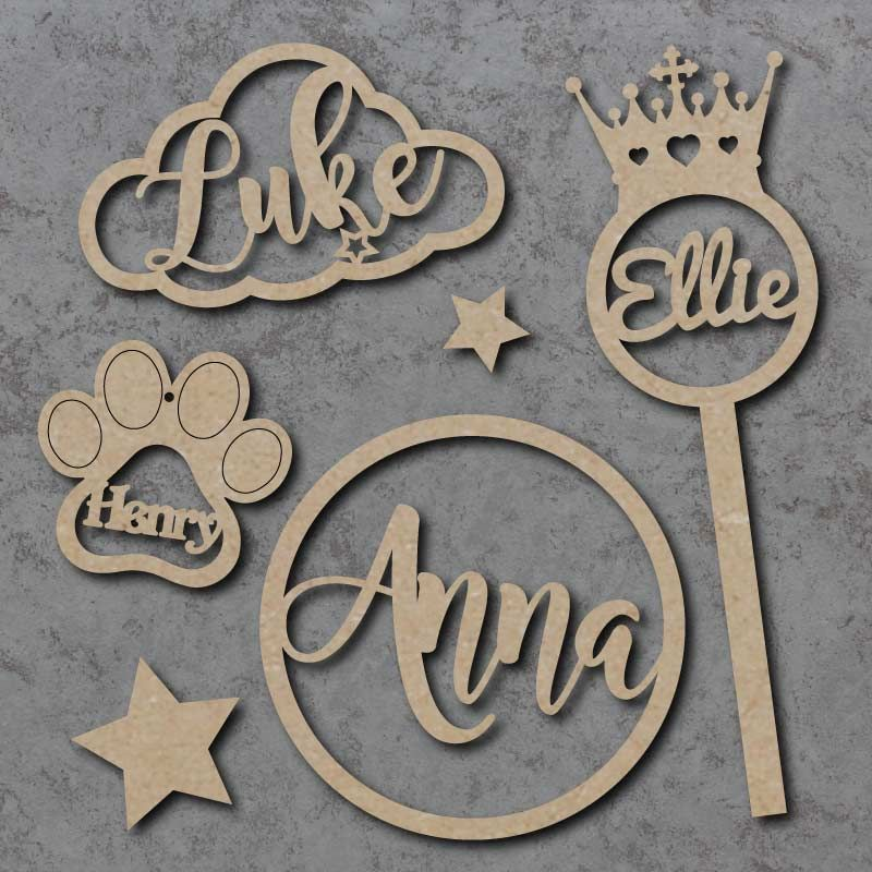 name Plaques, Baubles and Wands