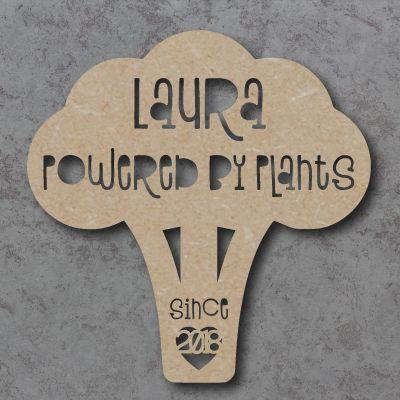 Personalised Powered by Plants Sign