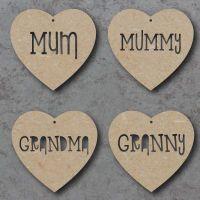Mothers Day Cutout Words Heart