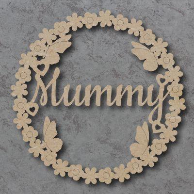Mum, Mummy, Flower butterfly Sign