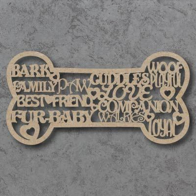 Dog Bone Words Sign