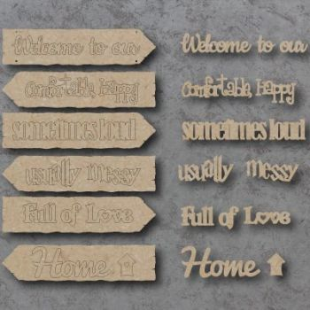Welcome to our Home Directions Hanging Sign