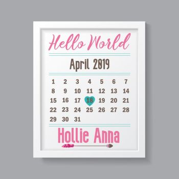 Tribal Girl - Personalised Hello World Print