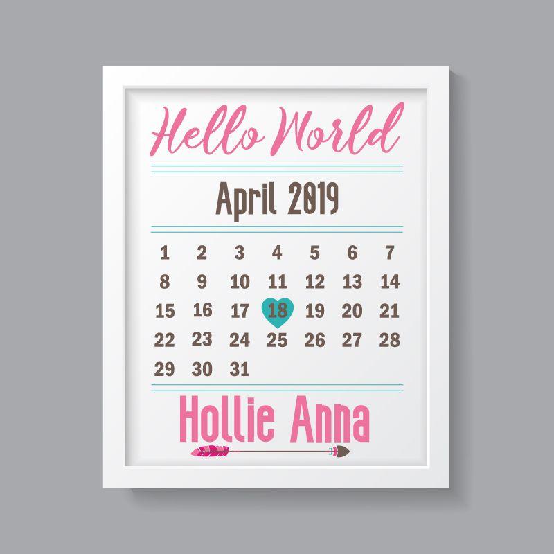 Tribal Girl - Personalised Hello World Print