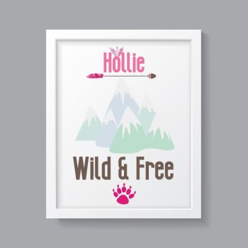 Tribal Girl - Personalised Wild & Free Print
